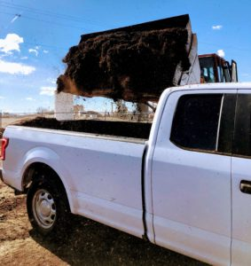 Loading compost at Soilutions
