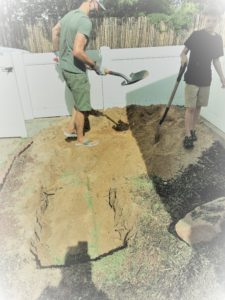 We buried a bale below the surface
